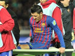 Barcelona striker David Villa will miss the European Championships because of a fractured left shin he suffered in the first-half of the European champions' Club World Cup semifinal back in December.
