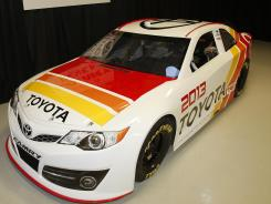 The Toyota Camry that'll be run in the 2013 Sprint Cup Series was unveiled Tuesday.