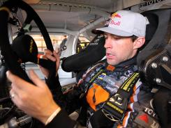 Travis Pastrana (pictured at Iowa Speedway) will go from a stock car to a rally car in 90 minutes on Saturday night at Charlotte Motor Speedway.