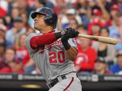 Nationals shortstop Ian Desmond hits a home run to help Washington defeat the Philadelphia Phillies 5-2 at Citizens Bank Park on Tuesday.