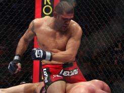 Antonio Silva punches Fedor Emelianenko during a 2011 fight. Silva makes his UFC debut Saturday.