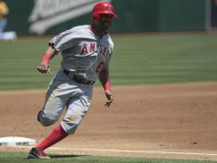 Los Angeles third baseman Alberto Callaspo only had one hit against Oakland, but the two-run double in the top of the 11th proved to be the biggest hit of the game.