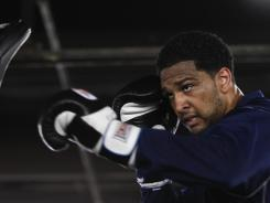 "Dominic Breazeale trains at a boxing gym called ""The Rock"" in Carson, Calif."