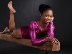 Fearless: Gabby Douglas is at home on the balance beam, but her strength is the uneven bars, where the U.S. team needs help.