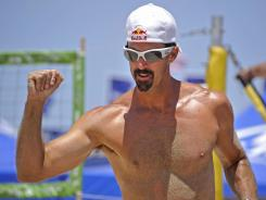 Todd Rogers and teammate Phil Dalhausser are the defending men's beach volleyball gold medalists.