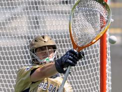 John Kemp is the last line of defense for a Notre Dame that allows only six goals a game, best in the nation.