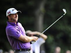 Graeme McDowell of Northern Ireland, teeing off on the second hole Thursday, shot an opening 2-over 74 in the first round of the BMW PGA Championship.