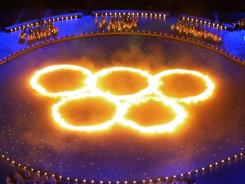 The opening ceremonies of the 2002 Winter Olympics in Salt Lake City, the last time the USA hosted the Games.