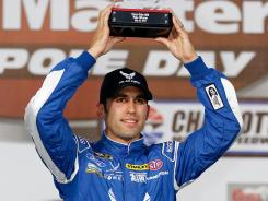 Aric Almirola, driving the No. 43 Air Force Ford this weekend, will start from the pole in Sunday night's Coca-Cola 600.