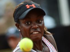 Sloane Stephens, shown here in Rome on May 16, has advanced to the semifinals in Strasbourg.