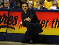Miami Heat coach Erik Spoelstra was fined by the NBA for complaining about officiating.
