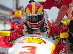 Three-time champion Helio Castroneves and everyone else could be dealing with the hottest Indy 500 ever.