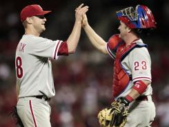 Philadelphia Phillies starting pitcher Kyle Kendrick pitched just 94 pitches and struck out four batters in his first career shutout.