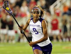 Northwestern Wildcats midfielder Taylor Thornton (9) during the second half of the NCAA Division 1 womens lacrosse semifinals on Friday.