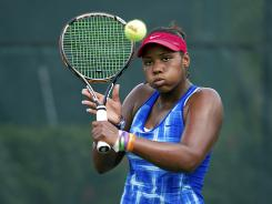 Taylor Townsend, shown here at the USTA training center in Boca Raton, Fla., is the top-ranked junior in the world and the reigning Australian Open girls champ.