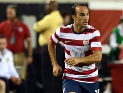Landon Donovan had a hat trick against Scotland on Saturday at EverBank Field in Jacksonville, Fla.