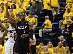 After a talk with his college coach, Heat guard Dwyane Wade got his confidence back — and his shooting touch — in time to help defeat the Pacers in the second round.