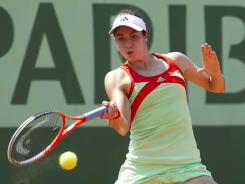 Christina McHale was one of six U.S. women to win a first-round match Monday at the French Open, raising the record for American women to 10-0.