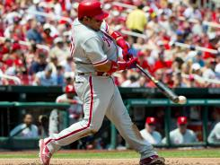 Philadelphia Phillies catcher Carlos Ruiz has been more aggressive at the plate this season, and it's paying off.