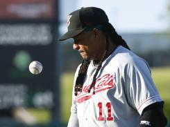 Manny Ramirez is batting .250 for the A's Class AAA team.