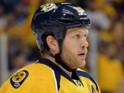 Nashville Predators defenseman Ryan Suter will be one of the top two free agents this summer.