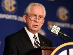 "SEC commissioner Mike Slive says he's ""hopeful"" the NCAA decides to adopt a playoff system for football."