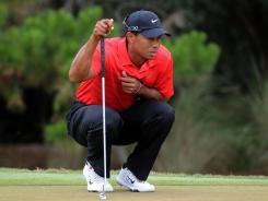 Tiger Woods, shown here at The Players Championship, returns this week at the Memorial.
