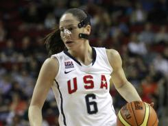Sue Bird is shown in action with Team USA against China in the first half of a May exhibition game in preparation for the London Olympics.