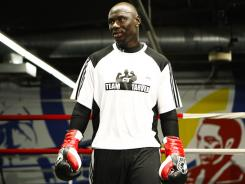 Antonio Tarver during a recent media workout as he prepares for Lateef Kayode.
