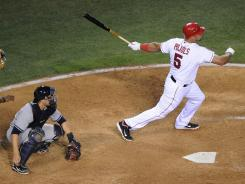 After going without a homer in April, Albert Pujols has hit eight in May, helping the Angels reach the .500 mark.