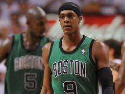 "Rajon Rondo and the Celtics have not felt the love in Miami. ""A lot of controversy out there,'' Rondo said"