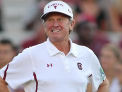 "South Carolina coach Steve Spurrier acknowledges his plan ""gets a little tricky"" when he was asked if it would cover all scholarship players."