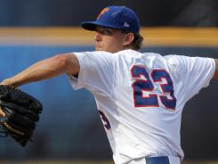 Florida's Jonathon Crawford threw a no-hitter on Friday night against Bethune-Cookman.