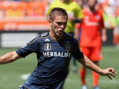Galaxy midfielder Michael Stephens had a challenge that endangered the safety of Dynamo midfielder Adam Moffat in the 46th minute of the game last Saturday.