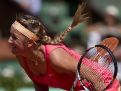 Victoria Azarenka is into the fourth round, where she will face Dominika Cibulkova.