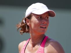 Varvara Lepchenko of the USA earned her first trip to the fourth round of a Grand Slam with a 3-6, 6-3, 8-6 victory Saturday against 2010 champ Francesca Schiavone of Italy.