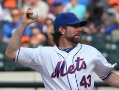 Mets pitcher R.A. Dickey gave up seven hits, struck out nine and walked none against the Cardinals in his third career shutout and first this season.