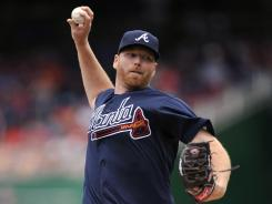 Tommy Hanson pitched seven innings of two-run ball as the Braves snapped a six-game losing streak to the Nationals.