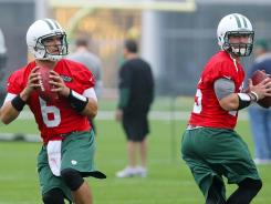 Jets QB Mark Sanchez (6) and Tim Tebow will work out well into the offseason.