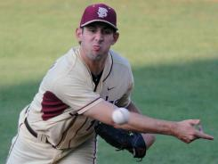 Freshman Mike Compton tossed six innings of two-run to lead Florida State into the Super Regionals.