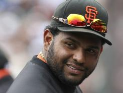 Giants third baseman Pablo Sandoval has been sidelined with a broken bone in his left hand
