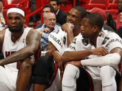 The Heat's big three — LeBron James, Chris Bosh and Dwyane Wade — are in a must-win situation in Game 6 in Boston on Thursday.