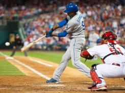 Dee Gordon hit a two-run single in the sixth inning to help the Dodgers beat the Phillies. Gordon has struggled this season and is hitting just .230.