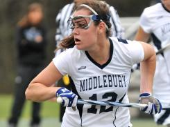 Katie Ritter, who is from Middlebury, Vt., had 32 goals for a Middlebury women's lacrosse team that reached the national semifinals