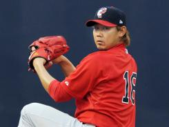 Boston Red Sox Daisuke Matsuzaka, shown with the Pawtucket Red Sox, has a career record of 49-30 with a 4.25 ERA.
