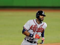 Before hitting two home runs against the Marlins, Jason Heyward last hit a home run on May 25 against the Nationals.