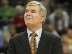 Mark Emmert, who has been NCAA president for less than two years, denies reports he's considering leaving the post.