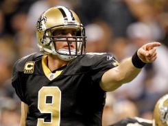 Drew Brees has never thrown for less than 4,388 yards in his six seasons with the Saints.