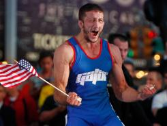 Coleman Scott was all smiles after securing the final spot on the U.S. Olympic wrestling team.