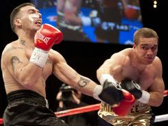 Mike Lee, right, knocked out Pablo Gomez last year.